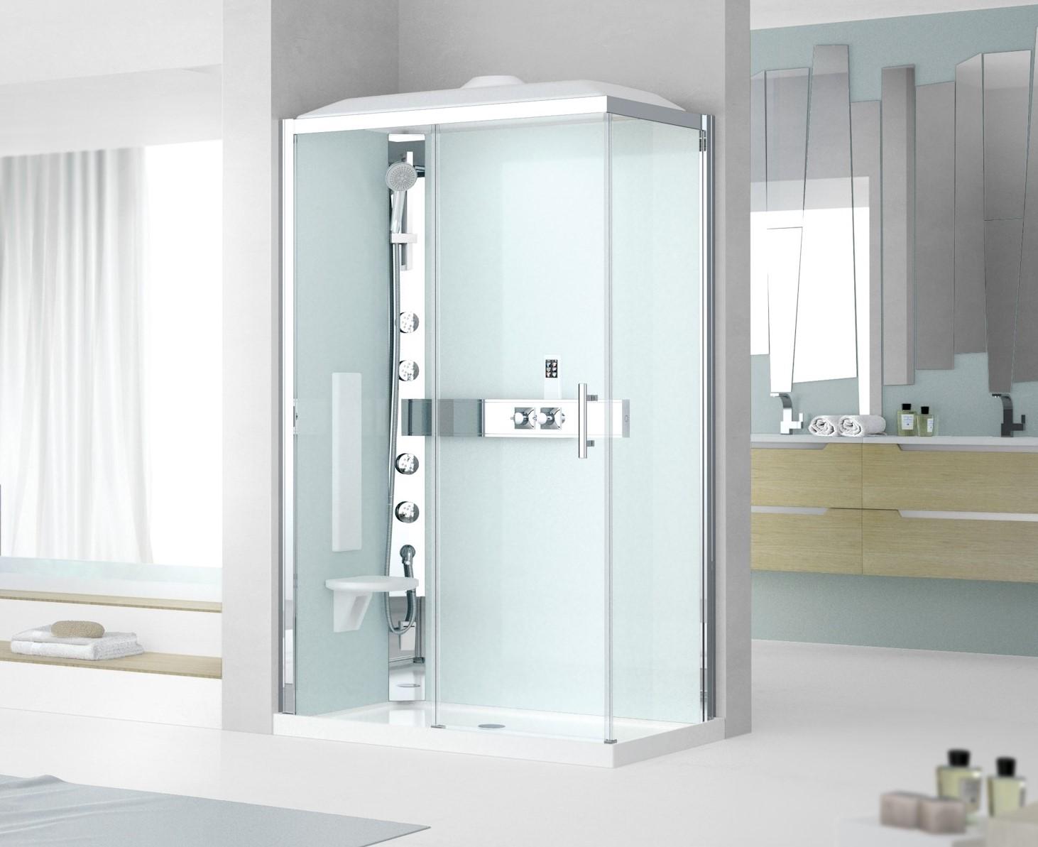 Cabina doccia multifunzione glax 3 hammam for Doccia multifunzione
